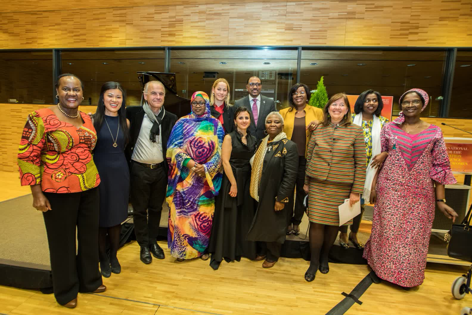 After performance in UN with African women Ambassadors